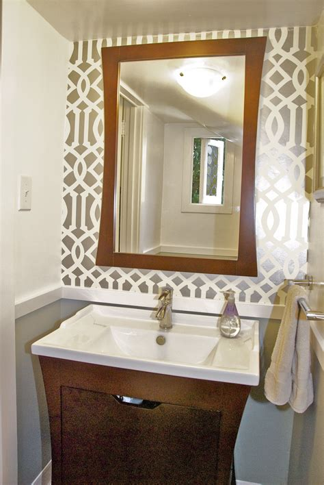 powder room mirror powder room powder room reveal tiny silver gem jewels at home