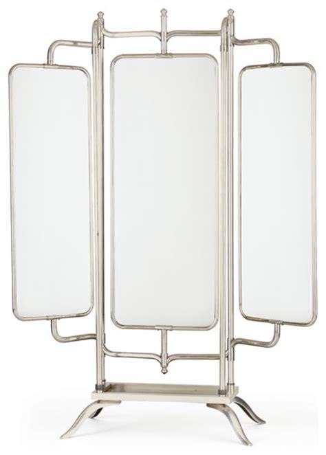 floor mirror panels ariel triple panel mirror transitional floor mirrors