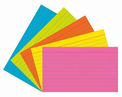 Cards Clipart Notecard Card Colorful Cliparts Clip