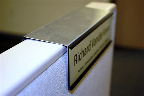 changeable   cubicle nameplate holders created  naptags