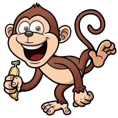 desenhos de macacos macaco dos desenhos animados banana imagens de stock imagem 31019354