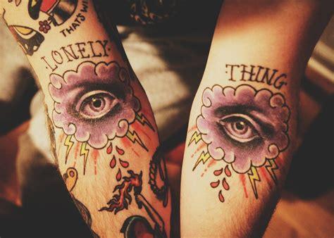 amazing lightning  eye cloud tattoo tattoomagz