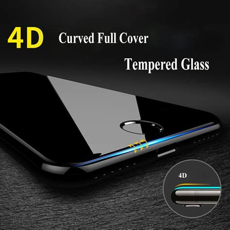 premium tempered glass iphone 7 screen protector 9h 4d 9h curved edge cover tempered glass for iphone 7 6