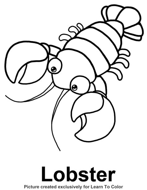 lobster coloring page   sea coloring pages