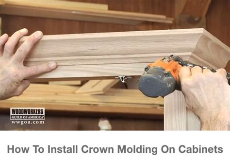 how to cut crown molding on kitchen cabinets crown molding installation on cabinets crown molding 9722