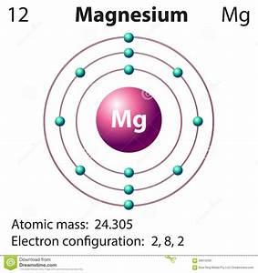 Diagram Representation Of The Element Magnesium Stock Vector