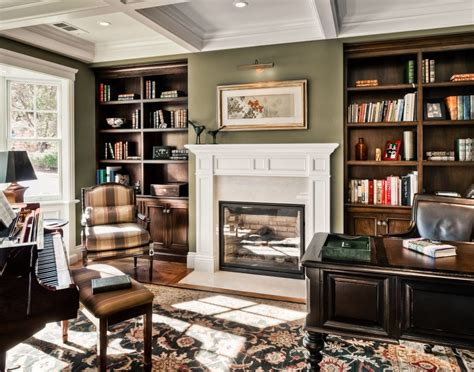 sage green fireplace wall ledge living room traditional