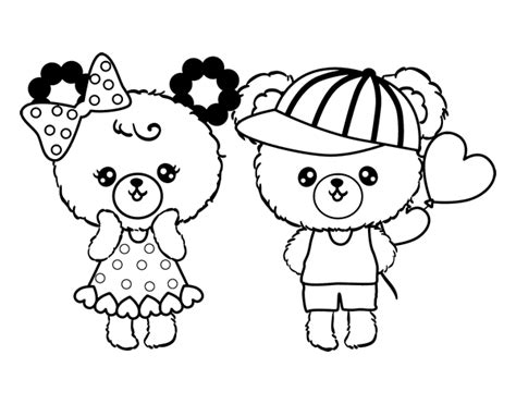 desenho de kawaii ursos  colorir colorircom