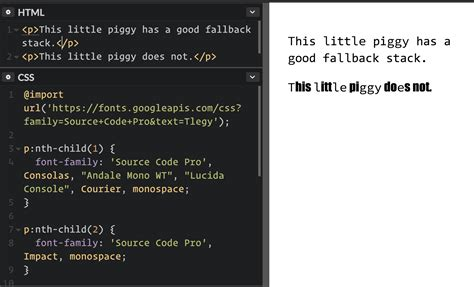 Best Fonts For Web Pages Css Basics Fallback Font Stacks For More Robust Web