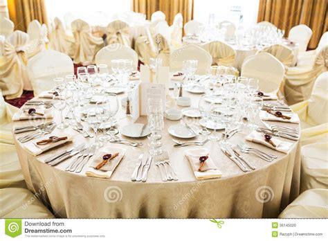 Beige Wedding Decor - wedding table stock photo image 36145020