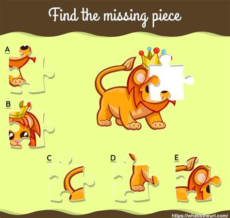find  missing piece lion picture  home teacher