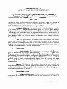 Sample advisory board agreement trade secret patent for Advisory board agreement template