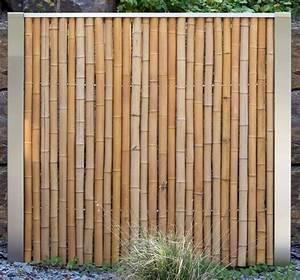 bambus sichtschutz bambus sichtschutz mit edelstahl With französischer balkon mit sichtschutz garten bambuszaun