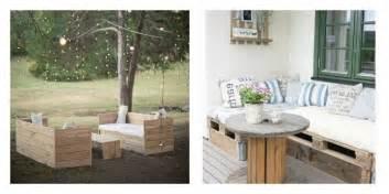 canapé avec des palettes collection de salons de jardin en palettes astuces