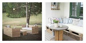 Salon De Jardin Romantique : collection de salons de jardin en palettes astuces ~ Dailycaller-alerts.com Idées de Décoration