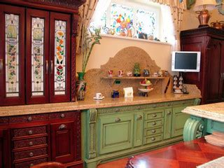 great kitchen cabinets stained glass cabinets and windows traditional kitchen 1335