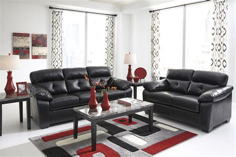 Contemporary Livingroom Furniture by Midnight Black Casual Contemporary Living Room Furniture