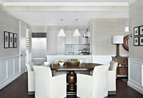 dining room gray grasscloth design ideas