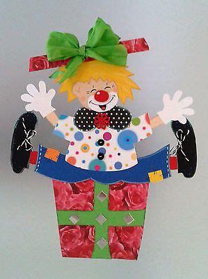 fensterbild clown im geschenk fasching karneval