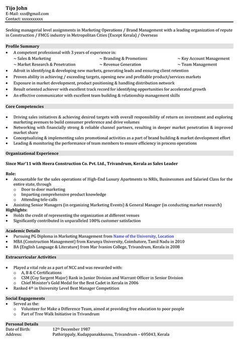 Production Engineer Resume Exle by Production Engineer Resume Sles Sle Resume For Production Engineer Naukri