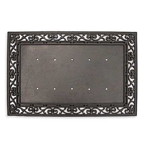 Doormat Well Frame by Rubber Door Mat Frame Bed Bath Beyond