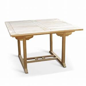 Gartentisch 120 Cm : sam teak gartentisch eckig ausziehbar 120 170 cm x 120 cm madera ~ Eleganceandgraceweddings.com Haus und Dekorationen