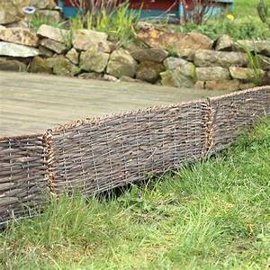 Bordure De Jardin : bordure bois pliable rotin osier x ~ Melissatoandfro.com Idées de Décoration