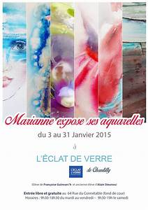 L Eclat De Verre : exposition d 39 aquarelles chantilly l 39 clat de verre ~ Melissatoandfro.com Idées de Décoration
