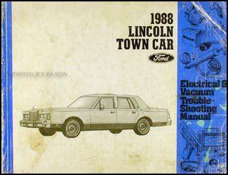Lincoln Town Car Factory Foldout Wiring Diagram Original