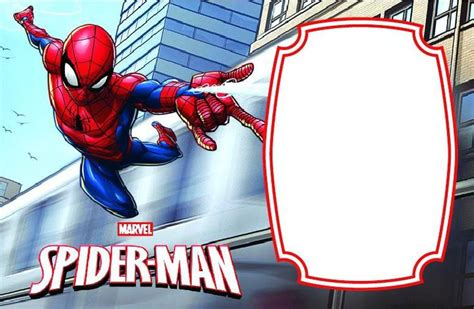 spiderman invitation templates  awesome  printable