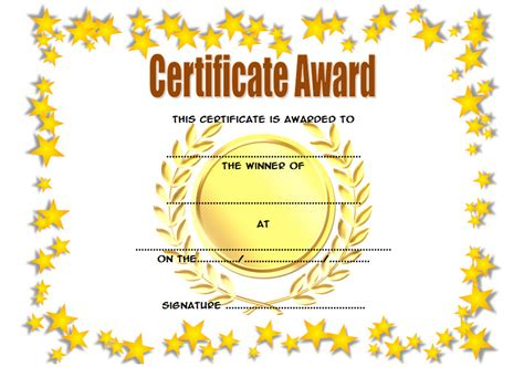 Winner Certificate Template Winner Certificate Template 9 The Best Template Collection
