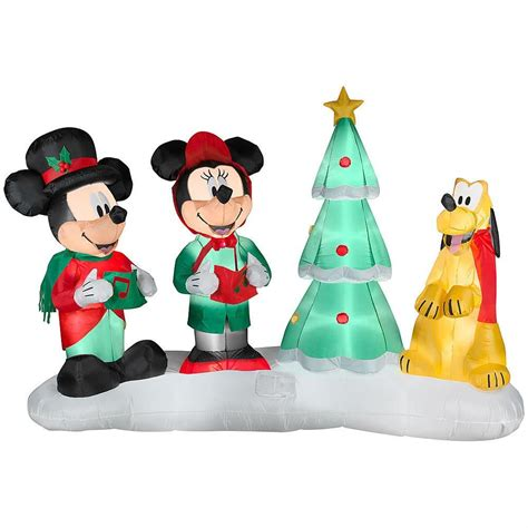 mickey mouse and friends outdoor christmas inflatables