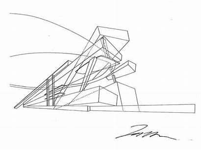 Sketches Zaha Hadid Building Construction