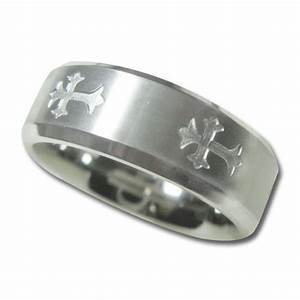 womens christian wedding band with satin finish center and With christian wedding rings for women