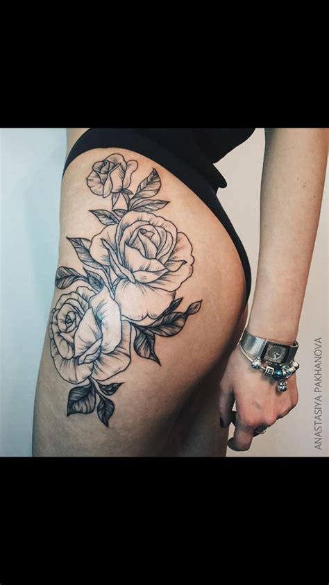 floral hipthigh tattoo moi pinterest floral tattoos floral  tattoos  body art
