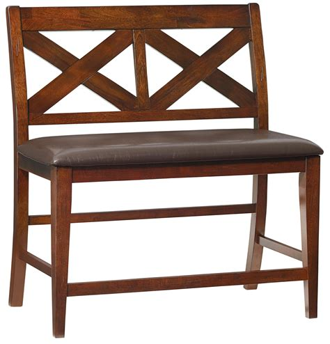 upholstered counter height bench standard furniture omaha brown 16199 counter height dining