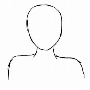 best photos of anime head outline template anime girl With anime head template
