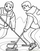 Coloring Curling Pages Ink Winter Sports Olympic Coloringpages101 Popular sketch template
