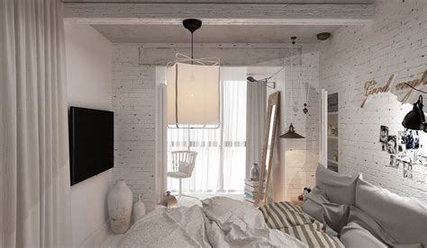 Ideas For Small Bedrooms - 3 feminine apartments designed for 3 sizes