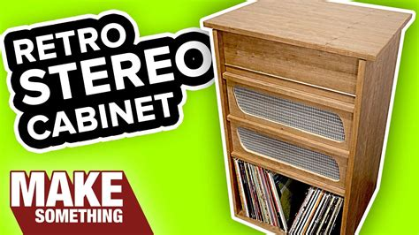 woodworking project     stereo cabinet youtube