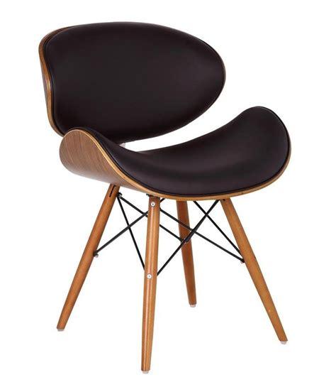 amazon chaise de bureau chaise de bureau style eames dsw simili cuir marron