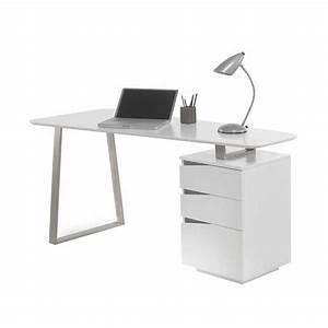 Design Schreibtisch Weiß : design schreibtisch in wei 150x67 cm mit 3 schubladen velino ~ Heinz-duthel.com Haus und Dekorationen