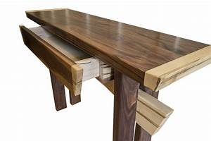 Buy, A, Hand, Crafted, Asian, Inspired, Maple, And, Walnut, Entry, Table, Console, Table, Art, Furniture
