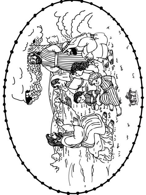 Kleurplaat Scheppingsdagen by Bijbel Borduurkaart 4 Knutselwerkjes