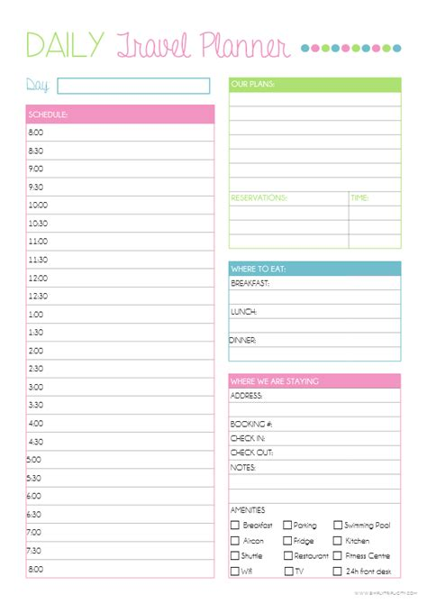 Travel Itinerary Templates For Pages by Printable Route Planner Printable Planner Template