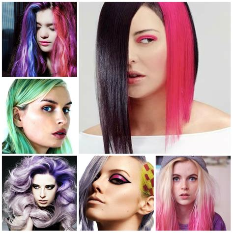 New Hairstyles With Temporary Hair Coloring Organic
