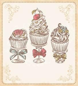 Vintage cupcakes labels creative vector 01 | Art Cupcakes ...