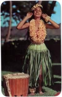 Hawaiian Postcard Hula Girl