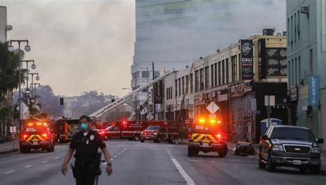 firefighters injured  los angeles hash oil factory
