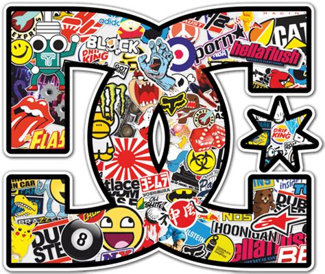 adesivo skate surf dc sticker bomb  stickersmuralicom